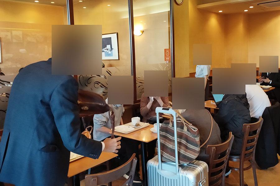 「ドトールコーヒーショップ 市ケ谷プラザ店」で「モーニングA(390円)」