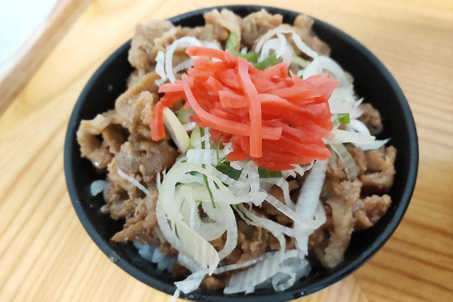 ミニ豚丼(240円)