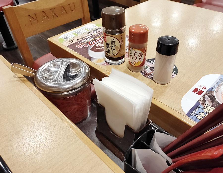 「なか卯 九段南店」で「朝そば温たまセット(390円)」のモーニング