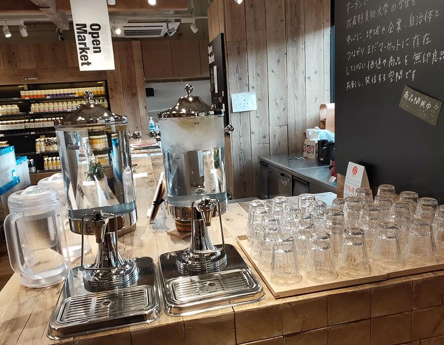 無印良品「MUJIcomCafé 武蔵野美術大学市ヶ谷キャンパス」で「ブレンドコーヒー(100円)」