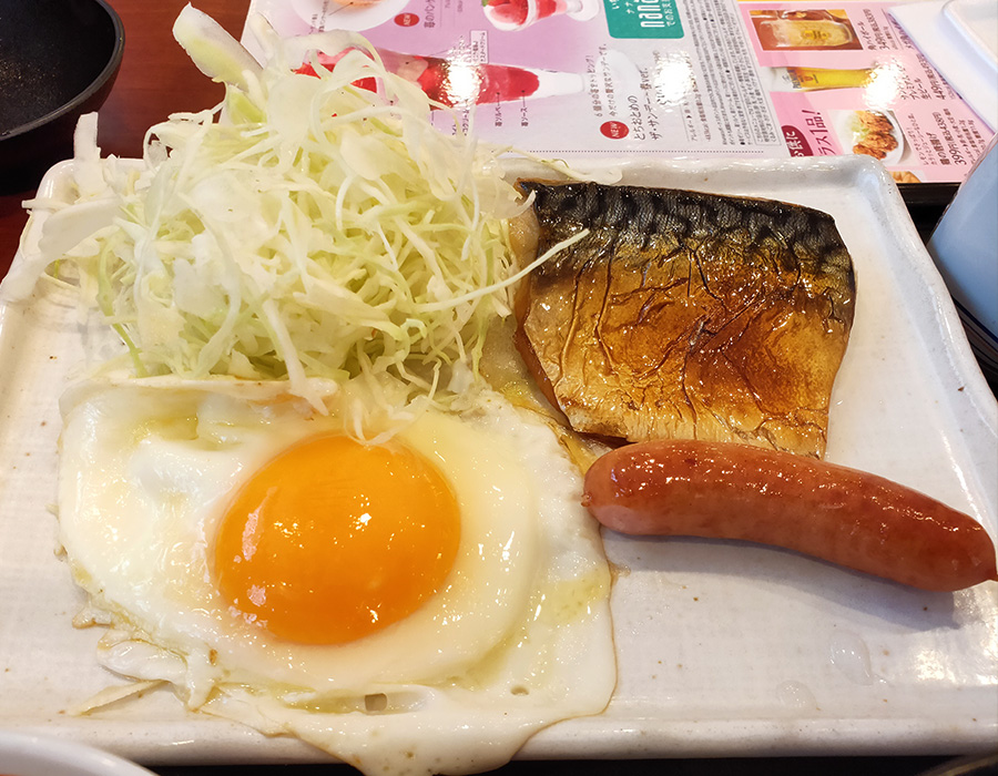 「デニーズ 二番町店」で「塩さば朝食(603円)」のモーニング[麹町]