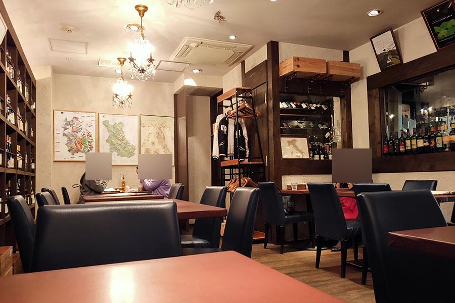 「エノテカドォーロ平河町店」で「ホロホロ鶏のラグーと春野菜のフィットチーネ(1,500円)」のランチ[半蔵門]