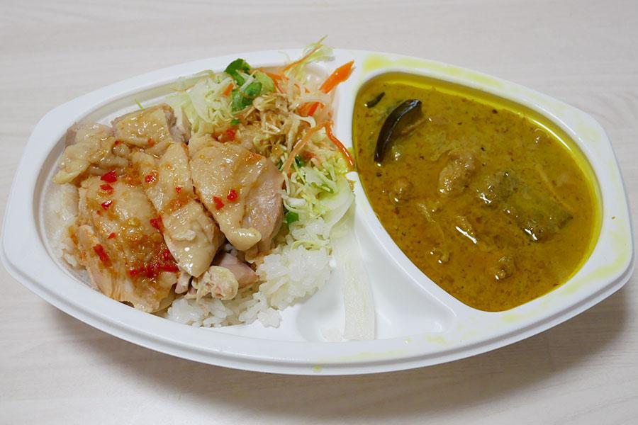 「ASIAN TAWAN168(アジアンタワン)」で「カオマンガイ&グリーンカレー(800円)」のキッチンカー