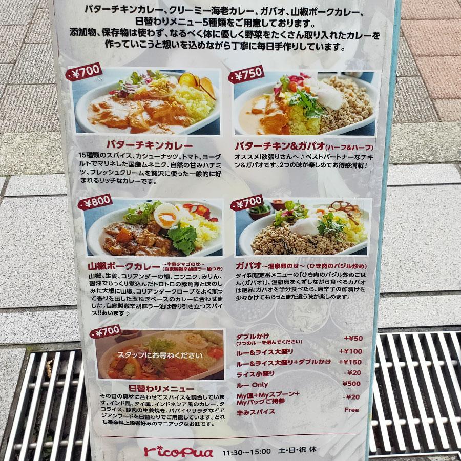 「リコ プア(rico pua)」で「山椒カレー(800円)」のキッチンカー[半蔵門]
