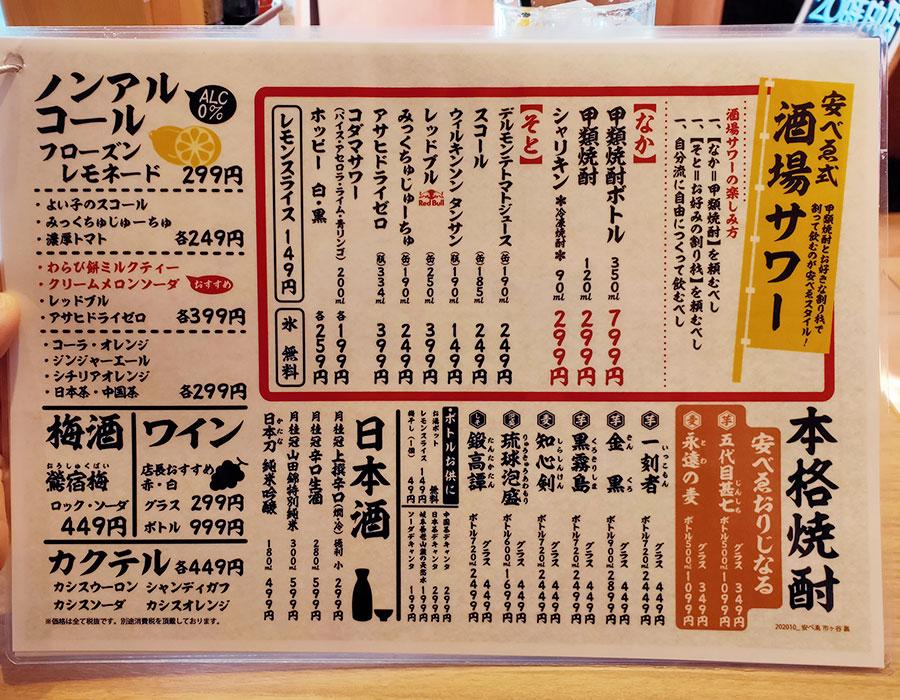 「大衆食堂 安べゑ 市ヶ谷店」で「肉豆冨定食[白](823円)」のランチ